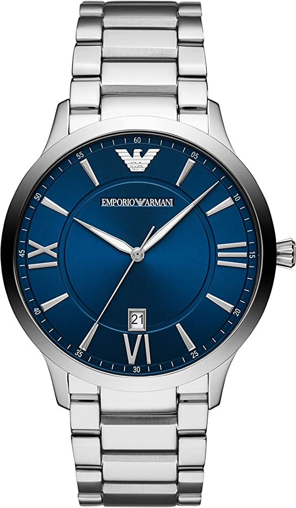 emporio armani, orologio per uomo, in acciaio inossidabile ar11227