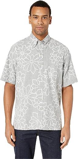 Kiku Blossoms Classic Fit Hawaiian Shirt
