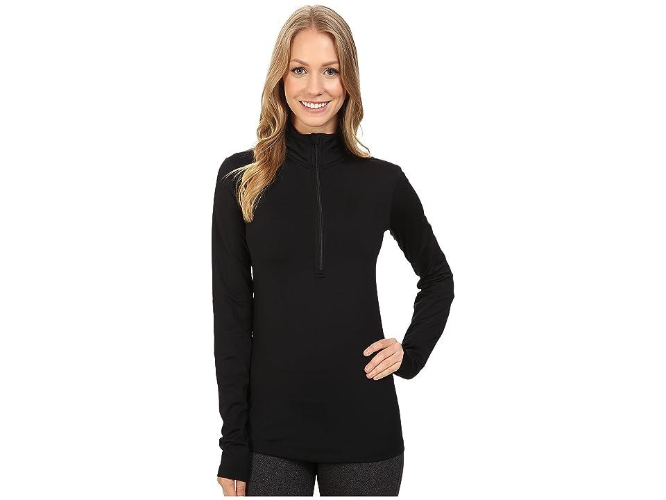 Nike Pro Long Sleeve Half Zip (Black/White) Women