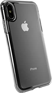 Smartish iPhone X/XS Clear Case - Nudist Frosted Clear - Protective Slim Grip Shock Resistant Cover (Silk) - Nothin' to Hide