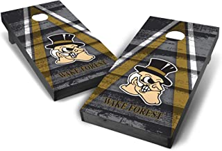 Wild Sports NCAA College 2' x 4' Grey Authentic Cornhole Game Set - Vintage Triangle Design