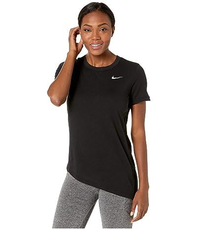 Nike Miler Top Short Sleeve Cinched (Black/Reflective Silver) Women