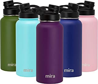 MIRA 32 oz Stainless Steel Insulated Sports Water Bottle | Metal Thermos Flask Keeps Cold for 24 Hours, Hot for 12 Hours | BPA-Free Spout Lid Cap | Iris