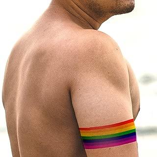 Rainbow Armband Tattoos | 8 Rainbow Temporary Tattoos