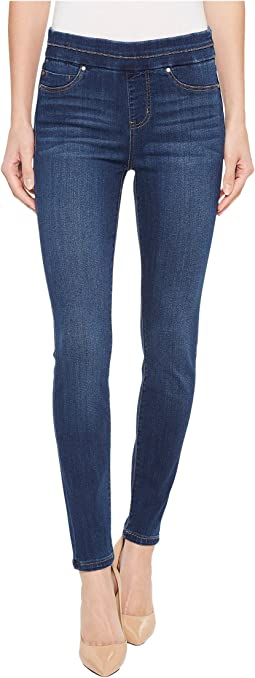 Liverpool Zoe Ankle Pull-On Leggings in Silky Soft Denim in Elysian Dark