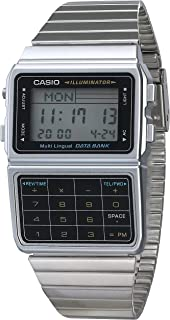 Men's DATABANK Digital Watch with Stainless Steel Strap,...