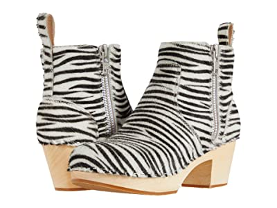 Swedish Hasbeens Zip It Emy (Zebra) Women