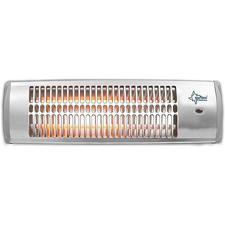 SUNTEC Radiateur À Quartz Heat Ray 1500 [Pour des pièces jusqu'à 45 m³ (~19 m²), Chauffage à fixer au mur, 2 vitesses de chauffage, max. 1500 W]