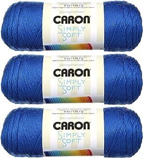 Bulk Buy: Caron Simply Soft Yarn Solids (3-Pack) Royal Blue H97003-9767