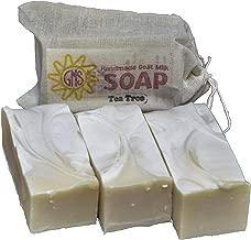 Goat Milk Soap - TEA TREE. All-Natural, Handmade by Goat Milk Stuff. Bars 5 oz. each, 4 Count