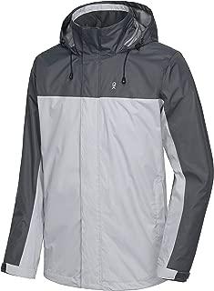Little Donkey Andy Men's Waterproof Lightweight Rain Jacket Outdoor Shell Hiking Work Rain Coat