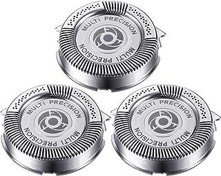 3 Pièces Têtes de Remplacement de Rasoir SH50/ 52 Compatibles avec Norelco Series 5000 (S5xxx), AquaTouch (S5xxx), AquaTou...
