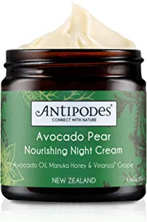 Antipodes Avocado Pear Nourishing Night Cream – Anti Aging Collagen Cream – with Avocado Oil & New Zealand Manuka Honey –D...