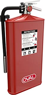 Oval Brand 10 lb ABC Fire Extinguisher Model 10JABC with 4A:80B:C Rating