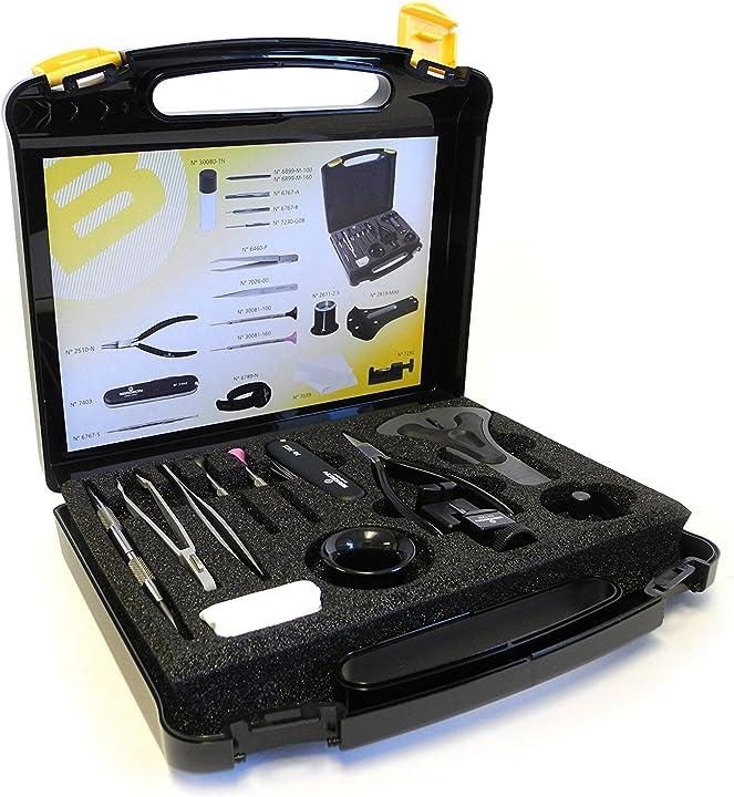 kit di utensili per orologiai bergeon 7812 plus 7802gc