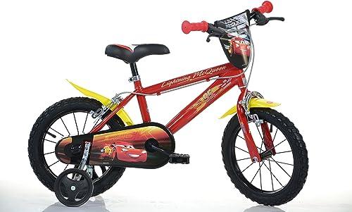 voitures lumièrening Initial MTB 16 Pouce EnfantSBIKE Boy vélo, Bicyclette, Enfant-Velo, bécane, vélocipède, Rouler en vélo, Faire du vélo.Rouge.stabilisateurs.bidon.gardeboue. 16pouce 4-7 Ans 105-135cm