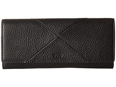 ECCO Linnea Continental Wallet (Black) Wallet Handbags