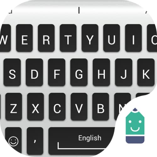 Silver Black Theme&Emoji Keyboard