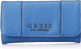 GUESS womens Heidi Cobalt Slim Clutch Wallet