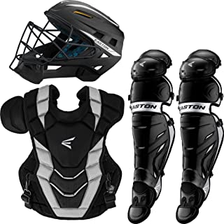 Easton PRO X Baseball Catchers Equipment Series Box Set | 2020 | Helmet | Chest Protector + Commotio Cordis Foam | Leg Guards | NOCSAE Approved for All Levels of Play