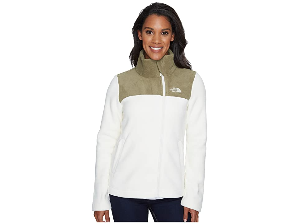 The North Face Tolmiepeak Full Zip (Vintage White/Burnt Olive Green) Women