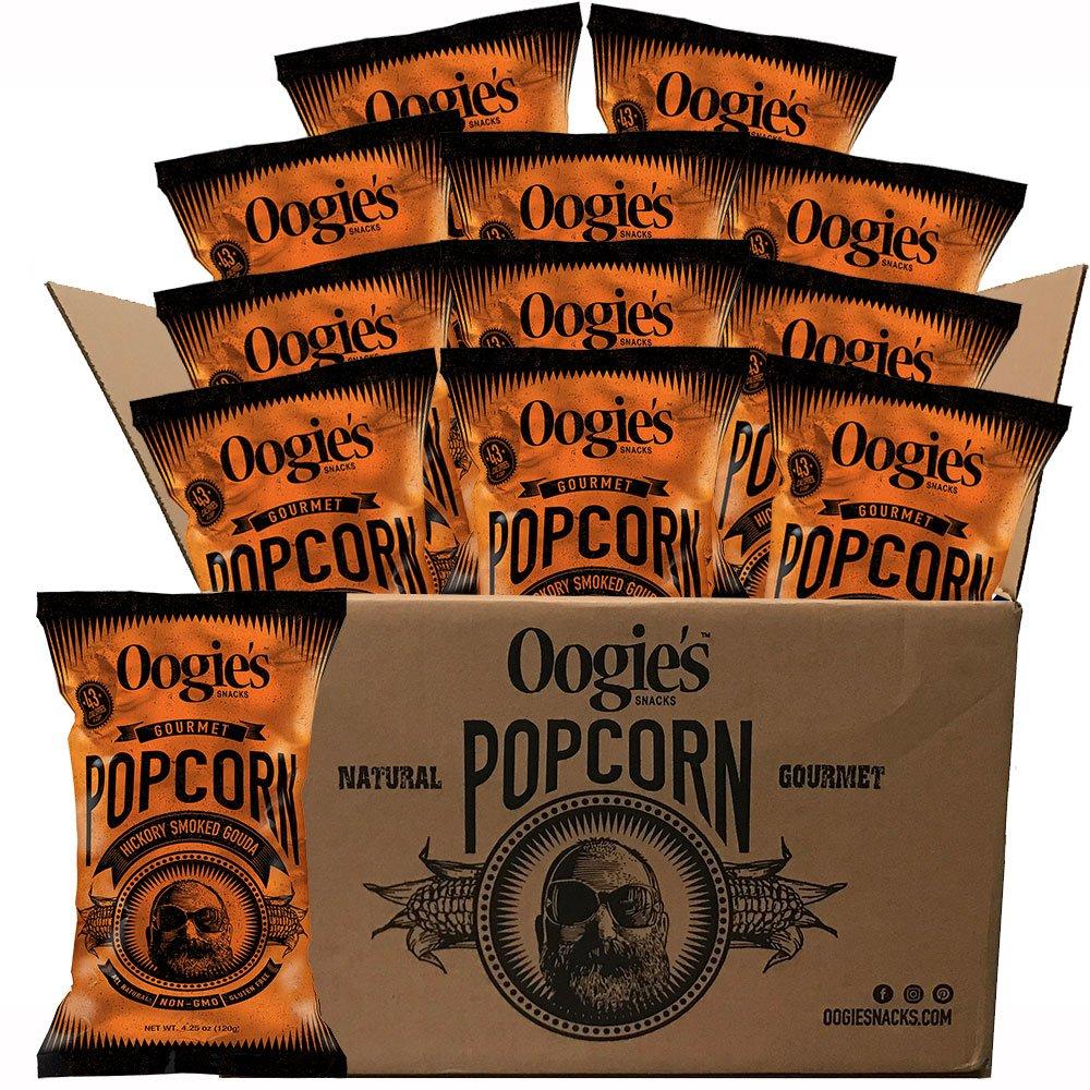 Oogie's Gourmet Popcorn Hickory Smoked 4.25 Oz supreme Gouda bag Bombing free shipping