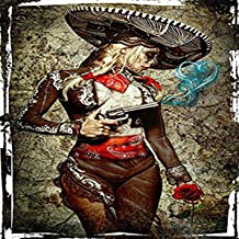 عمل فني من القماش مطبوع عليه Get Down Art El Mariachi Muerto Amore مقاس 45.72 سم في 60.96 سم