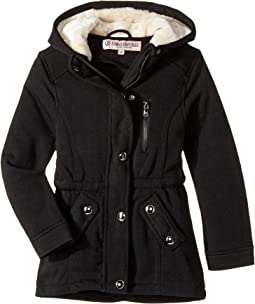 Urban Republic Kids - Long Silhouette Fleece Anorak with Pile in Hood (Little Kids/Big Kids)