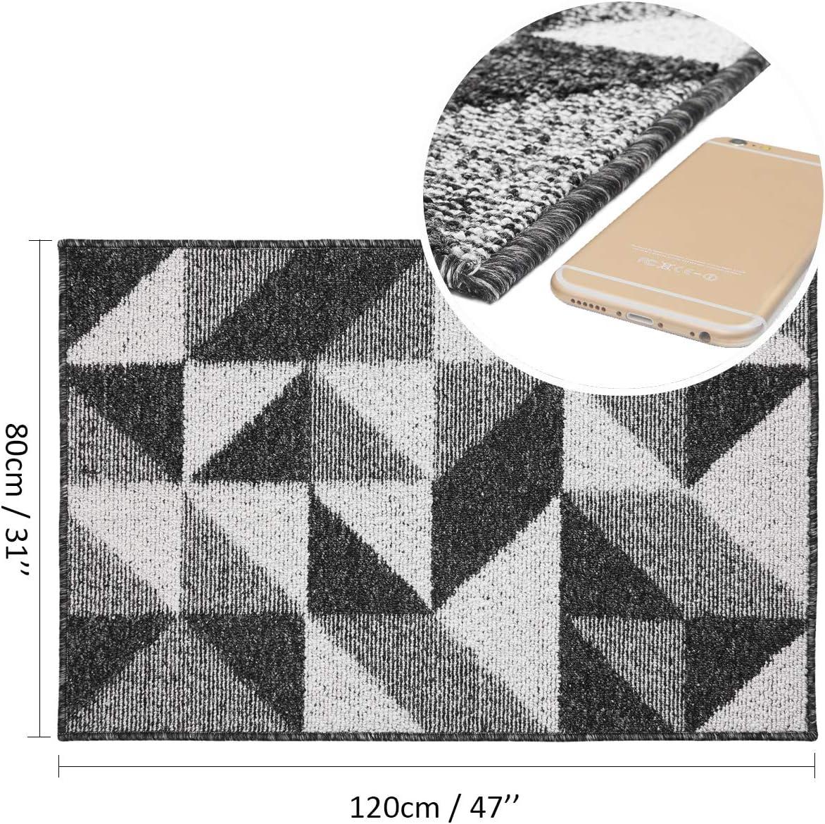 50X80cm, Black-Maze Pauwer Indoor Front Door Mat Non Slip Durable Doormats Entry Rug Low-Profile Resist Dirt Shoes Scraper Inside Mat for Doorstep Hallway Entryway Kitchen Outdoor