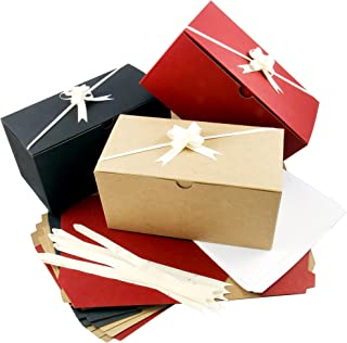 0e6c8493c Colored Gift Boxes 9 x 4.5 x 4.5 inch Set of 10 including Pull Bows and  Tissue Paper. Perfect to Wrap Presents. Ideal for Christmas