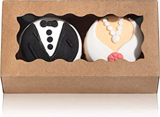 35PCS 4.17 x 2.16 x 1.37 Inches Premium Macaron Boxes for 2, Macaron Packaging, Macaron Containers with Window for Wedding, Thank You Favors Boxes By JCXGRVC