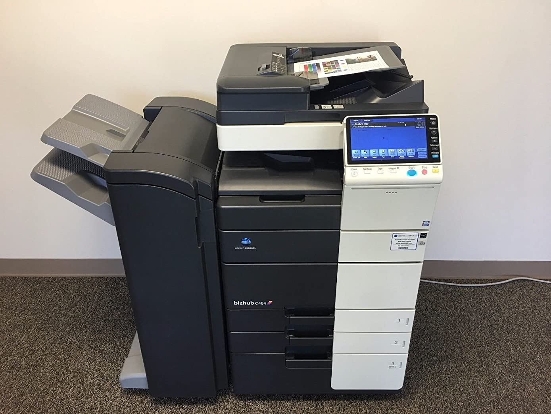 Konica Minolta Bizhub C454 Color Copier Printer Scanner Network with Staple Finisher