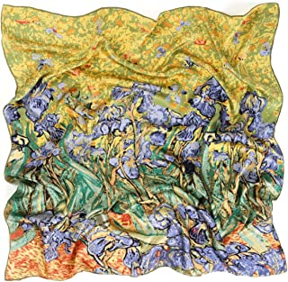 9d23ddc5db Prettystern - 90cm foulard de soie pure soie Impressionnisme Art Print  peinture tissu - van Gogh