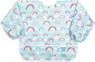 Bumkins Fleece-Front Sleeved Bib / Baby Bib / Toddler Bib / Art Crafts Smock, Waterproof, Washable