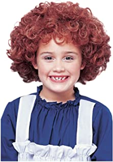 OvedcRay Child Little Orphan Annie Natural Red Auburn Curly Afro Kids Girls Costume Wig