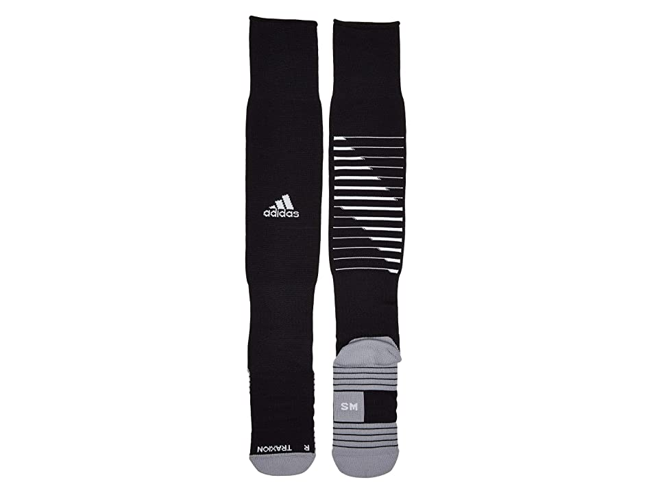 adidas Kids Team Speed II Soccer OTC Sock (Toddler/Little Kid) (Black/White/Light Onix) Kids Shoes