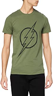 DC Comics Flash Line Logo Camiseta para Hombre