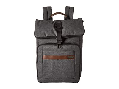 Briggs & Riley Kinzie Street Medium Fold-Over Backpack (Grey) Backpack Bags