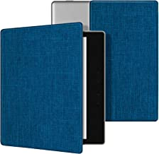 Ayotu Fabric Case for Kindle Oasis(9th Gen, 2017 Release) Thinnest and Lightest,Durable Soft Fabric Cover with Auto Wake/Sleep Function,(Not Fit All-New Kindle Oasis 10th Gen, 2019),KO2 The Blue