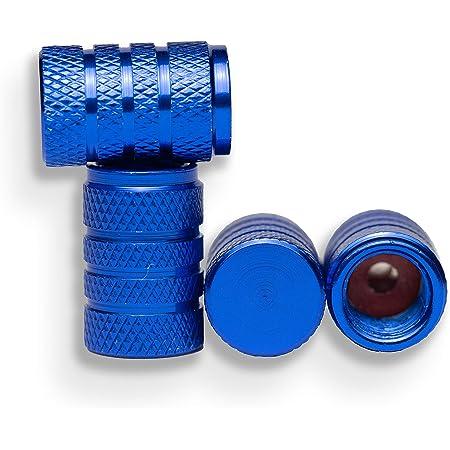 Carpoint 2216006 Ventilkappen Kolben 5 Stück Blau Auto