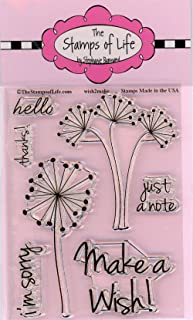 Party Wish Stamps for Card-Making and Scrapbooking Supplies by The Stamps of Life - Wish2Make