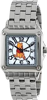 ساعة ديزني النسائية W000468 ويني ذا بوه بيرفيكت سكوير بسوار