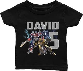 Personalize Transformers Birthday Shirt