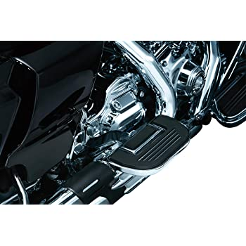 Satin Black 1 Pair Finned Passenger Board Floorboard Covers for 1986-2019 Harley-Davidson Motorcycles Kuryakyn 8877 Motorcycle Foot Control Component