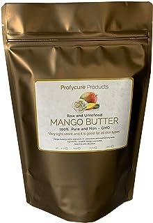 Mango Butter 8 oz Natural Unrefined Pure 100% Raw , Moisturizing, Scent-free, Hexane-free Premium Grade for Soft Supple Sk...