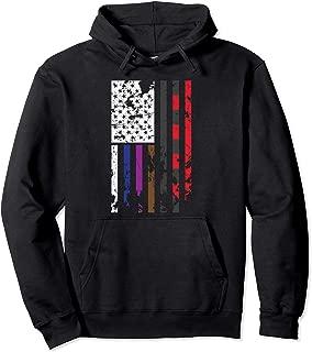 Cool BJJ Rank Hoodie Men Jiu Jitsu American Flag Gift BJJ Gi