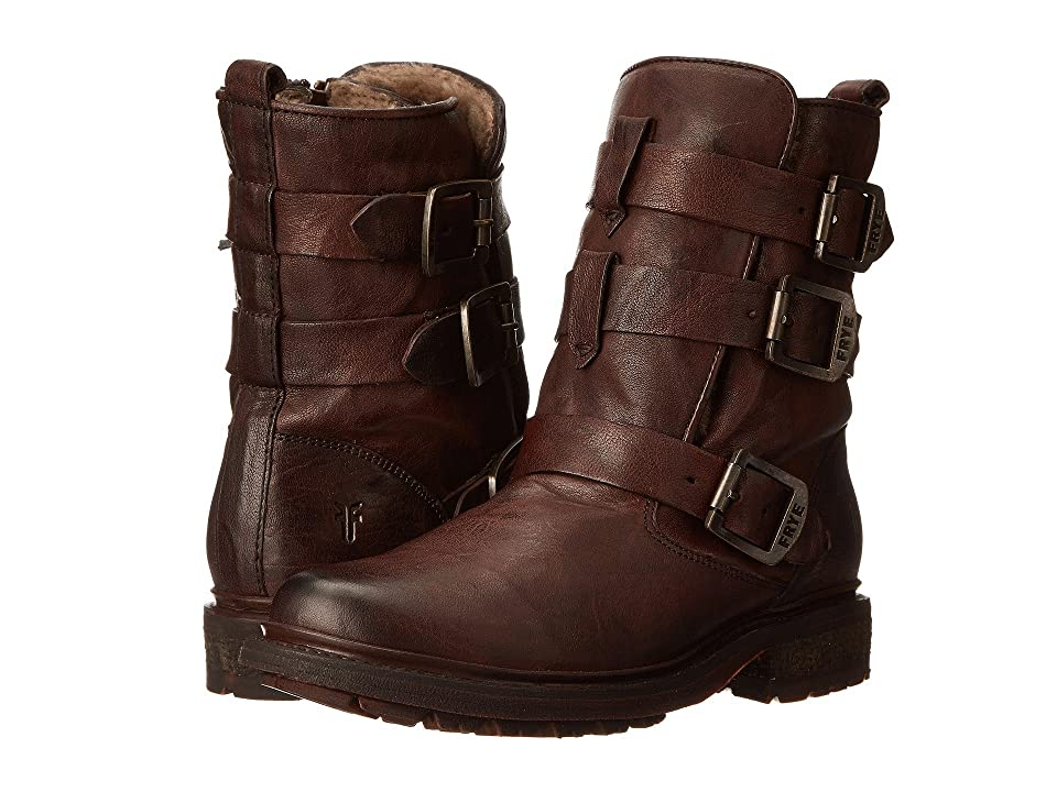 Frye Valerie Strappy (Dark Brown Antique Soft Vintage/Shearling) Cowboy Boots