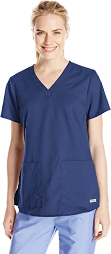 Barco Grey's Anatomy Women's 71166 Two Pocket V-Neck Scrub Top With Shirring Back