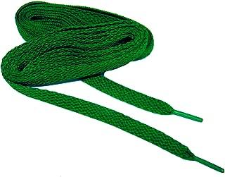 Kelly Green proATHLETIC 8mm Flat Sneaker Laces Shoelaces Shoestrings - (2 Pair Pack)