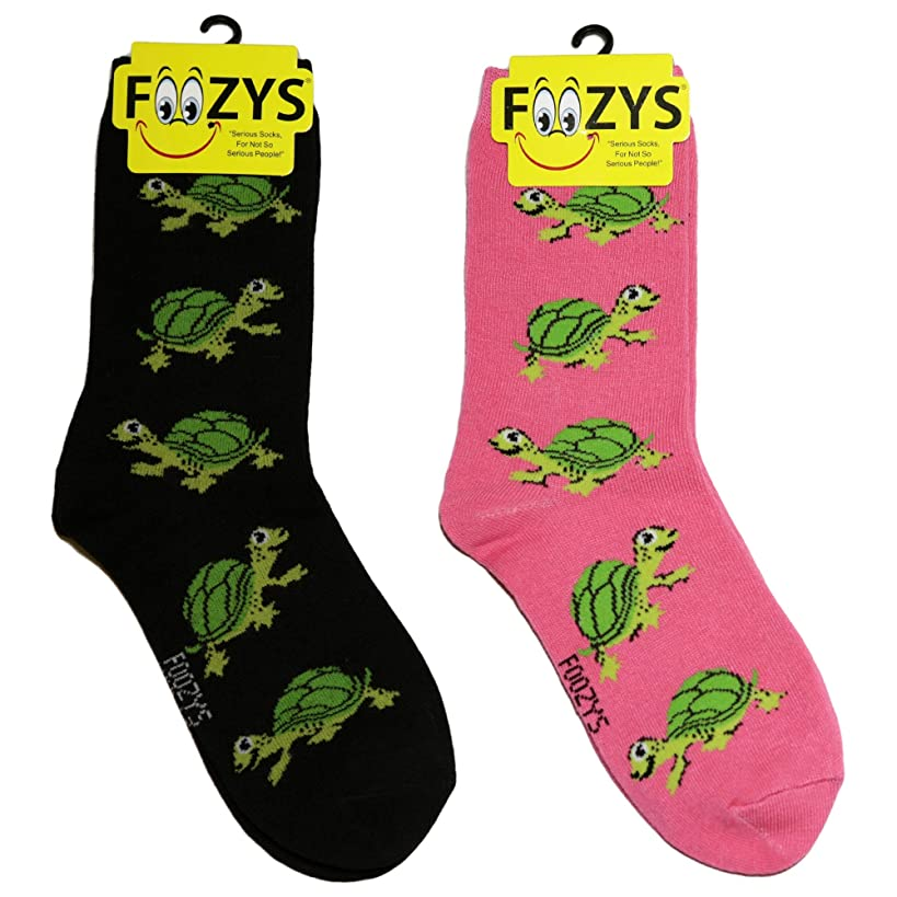 Foozys Women's Crew Socks | Cute Animal Themed Fashion Novelty Socks | 2 Pair